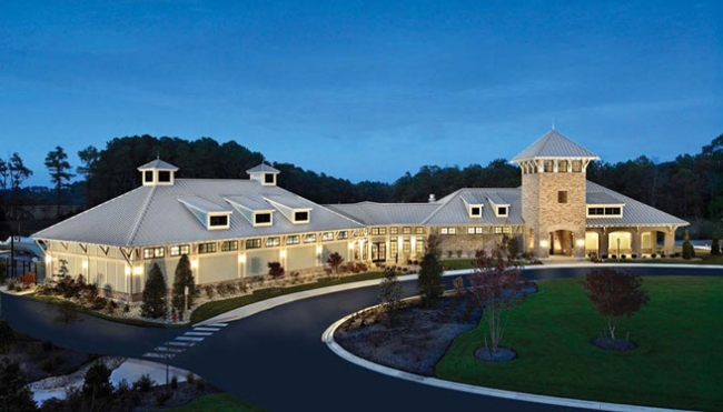 Bay Forest-Neighborhood-Ocean View-DE-Clubhouse at night