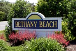 bethany beach sign